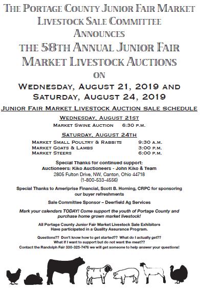 Jr Fair Livestock Sale - Portage County Randolph Fair